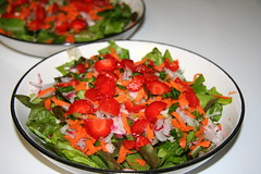 Homegrown Salad with Strawberries