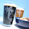 pint_mermaid1 (BreadnBadger) Tags: ocean etched woman sexy cup beer glass engraving nautical mermaid pint glassware tumbler beerglasses etchedglass pintglasses sandblasting sanblasted etchedglassware breadandbadger