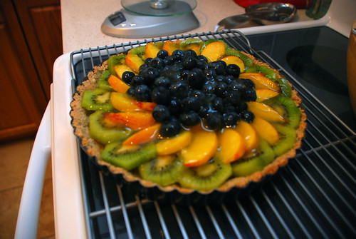 Vegan Fruit Tart - post gelatin