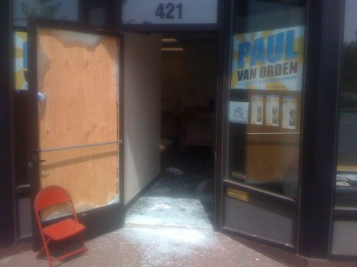 Paul van Orden's burglarized campaign office