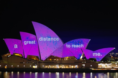 Coloured Opera House Sails - Vivid Sydney Lightshow