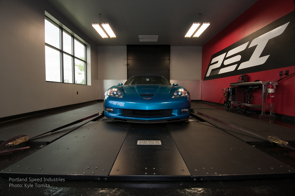 2008 Corvette Z06 on dyno at PSI
