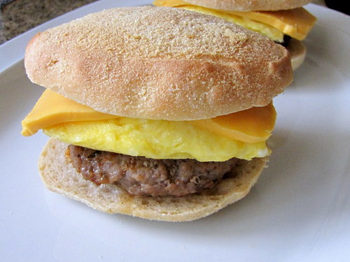 Sausage, Egg, and Cheese Pandesal