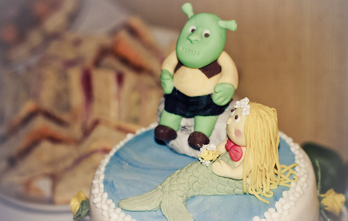 Heather and John cake (shrek and mermaid)