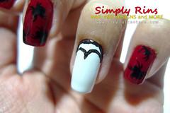 Nail Art Halloween Dracula Bit My Nail 04