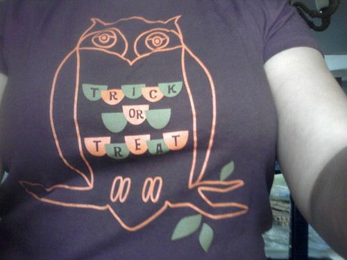 My Owl-loween shirt.