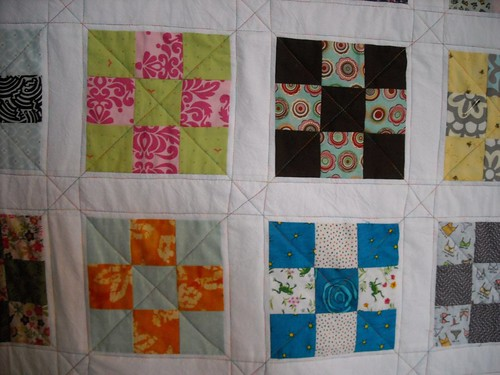 9-patch quilting progress