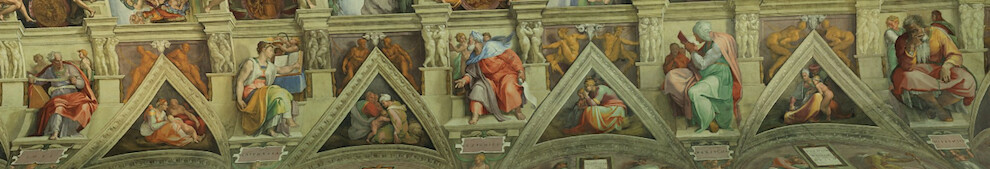 Sistine Chapel ceiling - southern wall, Prophets and Sibyls