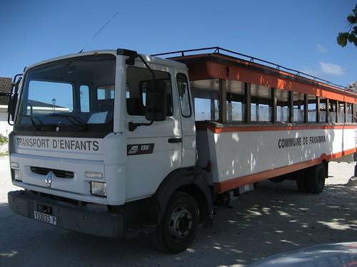 school bus, Fakarava