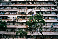 how many air conditioners? (* tathei *) Tags: poverty old city building film home architecture 35mm hongkong iso200 s historical fujifilm mass kowloon klasse konicaminolta shamshuipo centuria200
