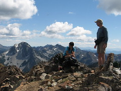 K and Jim K on summit of Highchair