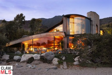 cox/arquette home in malibu