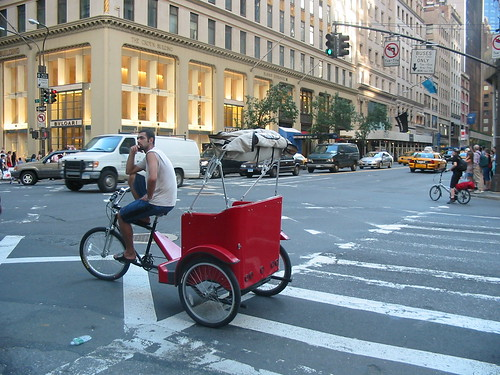 Pedicab (and folder) on 5th Avenue