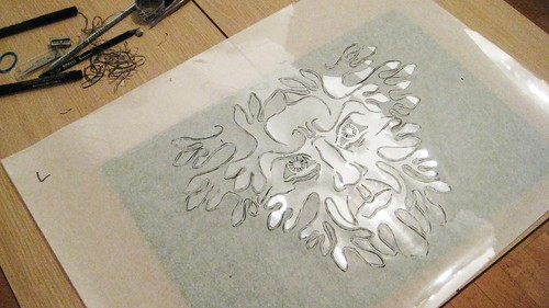 Finished Cutting the Main Stencil