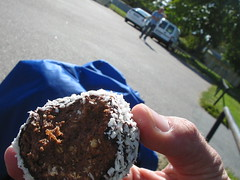 Swedish sweet (zahn-i) Tags: trip canon ball cookie sweet sweden chocolate nuts august swedish coco sverige a200 2007 specialty