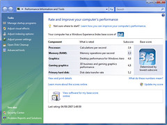 My Windows Vista Benchmarks