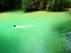 Iridescent (Benn...) Tags: green water waterfall lagoon highfive laos luangprabang amateurs kouangs