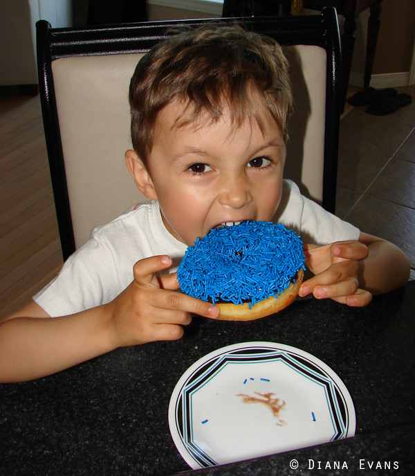 cole and the big blue donut