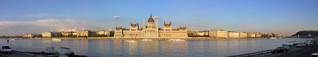 Budapest - Parliament sunset panorama 3