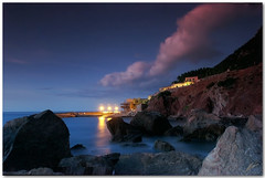 little harbour (chris frick) Tags: sunset sea clouds rocks exposure dusk wideangle explore textures filter mallorca mediterraneansea cokin littleharbour gnd portdevalldemossa explore98 chrisfrick sonyalpha550 tobaccolight slightppheavynoisereduction higerisoremainstobeaproblem