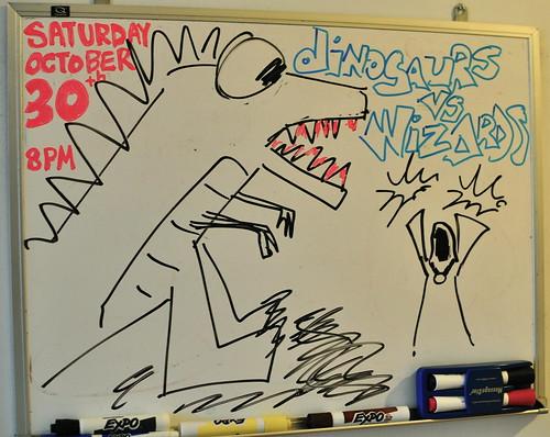 Dinosaurs vs Wizards!