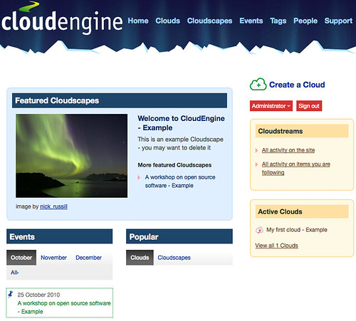 The CloudEngine Homepage