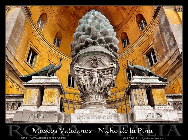 Roma - Museos Vaticanos - Nicho de la Piña