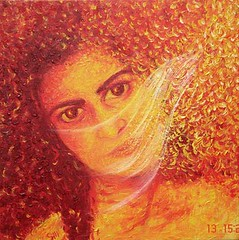 Me (Shubnum Gill) Tags: red orange india selfportrait art me painting golden women asia veil delhi canvas oil potrait gill newdelhi shubnum shubnumgill wwwshubnumgillcom