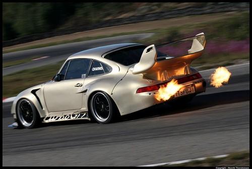 Porsche tubor GT and flames