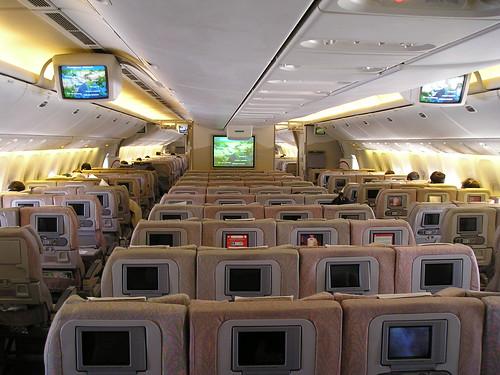 United Airlines Boeing 777 Interior Economy Class