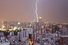 Rayo Bonaerense (alfonso rouillon) Tags: world city travel sky urban southamerica nature buenosaires ciudad lightning