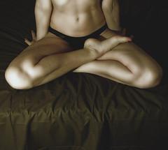 half lotus (hanna.bi) Tags: woman selfportrait autoportrait legs lotus body autoritratto limbs diamondclassphotographer humanbodygallerybw humanbodygallery2incolors