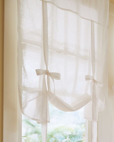 pottery barn drape shades