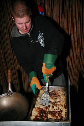 Matt cooking oatmeal cakes