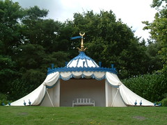 The Turkish Tent (Kaptain Kobold) Tags: park uk blue england white garden landscape tent surrey restored turkish folly painshillpark kaptainkobold yourfave
