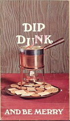 Dip Dunk and Be Merry (Cowtools) Tags: vintage cookbook ephemera pot illo fondue booklet recipes crackers glop panelling