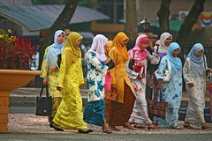 The crossing. (CSC - Chistopher Scott) Tags: woman colors women malaysia kuala lampur csconway