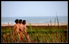 Sister-Act (Midhun Manmadhan) Tags: india beach three sister walk relaxing kerala nuns christian angels trio trivandrum poovar