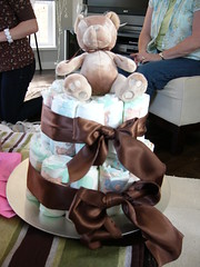 "Diaper ""cake"" (ciboulette) Tags: baby cake shower jessica august nanaimo diaper babyshower 2007"