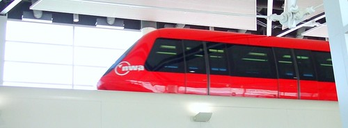 Monorail in Detroit airport