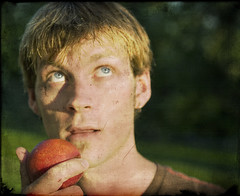 Adam's Apple (Adam FLiK) Tags: selfportrait me apple nature outside nikon adams tamron f28 d1x 2875mm adamflikkema
