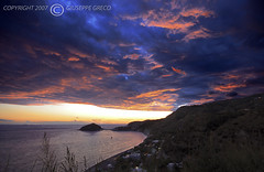 BLUE STORM (GIUSEPPE GRECO PHOTO) Tags: blue sunset sky storm beach colors clouds canon island eos blu ischia santangelo isola maronti 400d anawesomeshot aplusphoto excapture sigma1030