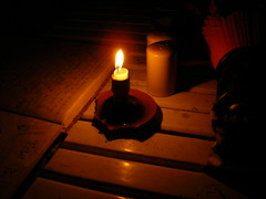 la vela y el libro de firmas