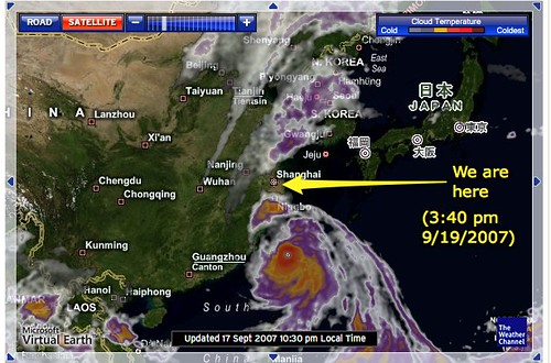 The typhoon approaches!