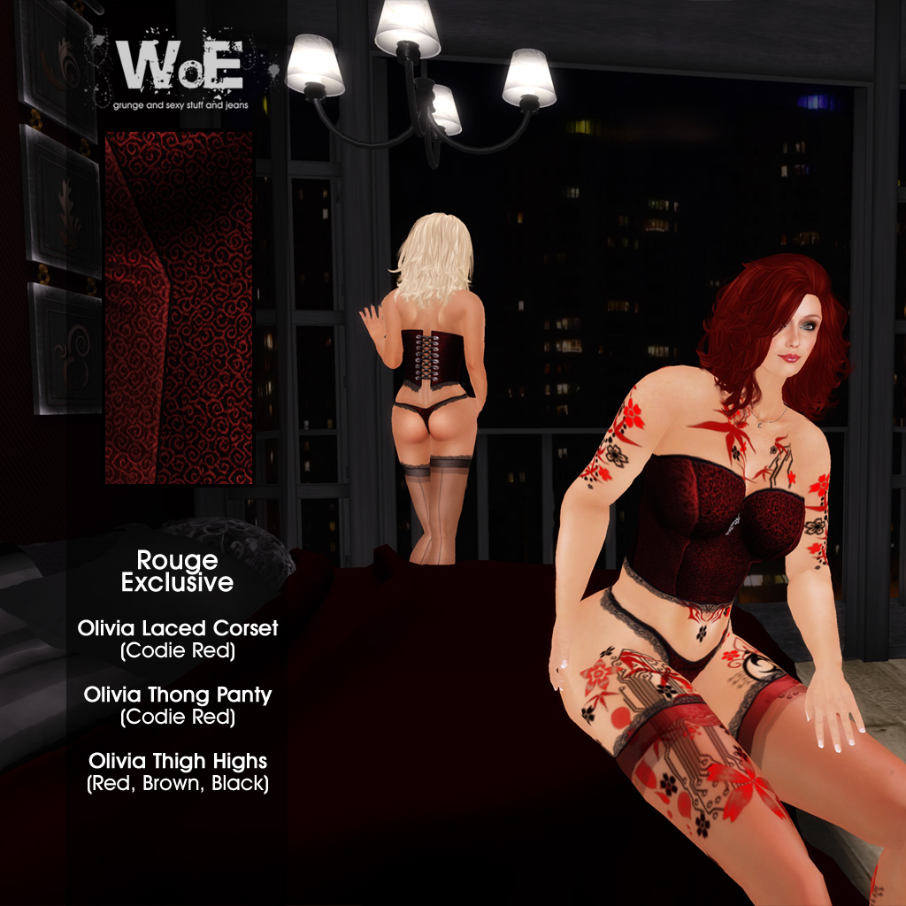 :. WoE .: Olivia Lingerie - Rouge Exclusive