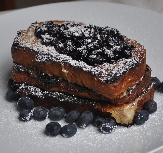 Caramelized Mascarpone-Stuffed Brioche French Toast