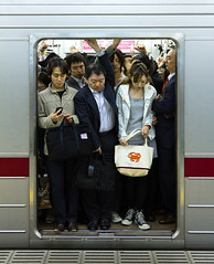 Nice and Convenient Storage Room (yushimoto_02 [christian]) Tags: urban station japan train subway tokyo robot metro crowd transport storage full   rushhour crowded tokio  tky