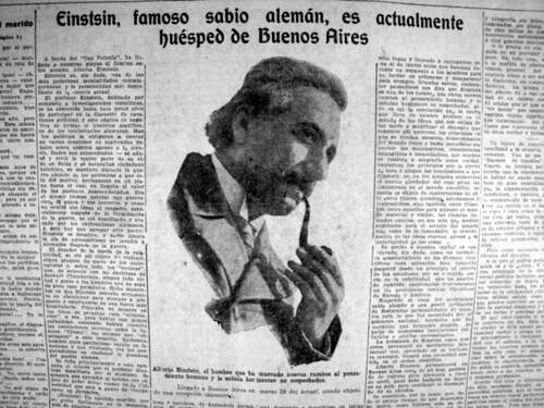 Einstein Visito Buenos Aires en 1925