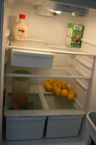 I cleaned the fridge!