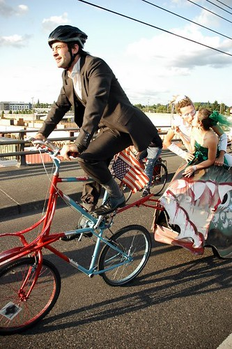 A Bike Wedding Parade